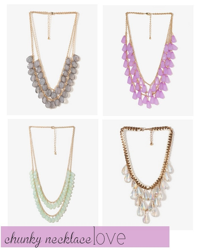 chunky necklace love