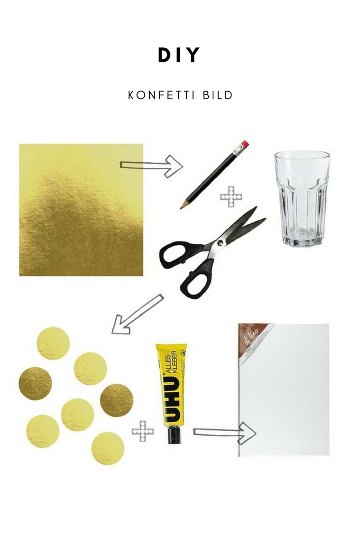 DIY: Konfetti Bild selber machen