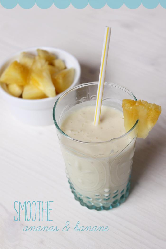 recipe ananas bananen smoothie mit griechischem yoghurt provinzkindchen. Black Bedroom Furniture Sets. Home Design Ideas