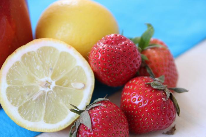 Erdbeeren Limonade