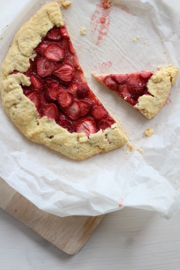 Galette mit Erdbeeren