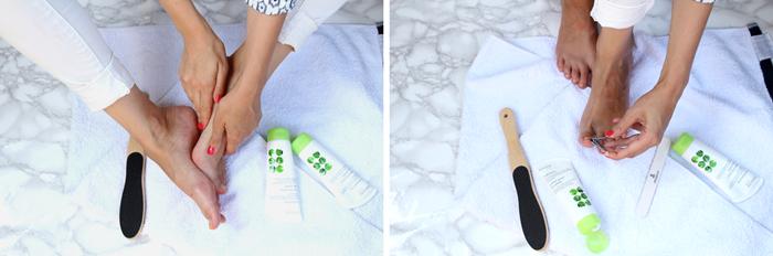 Sommerfitte Füße - Pediküre für Zuhause