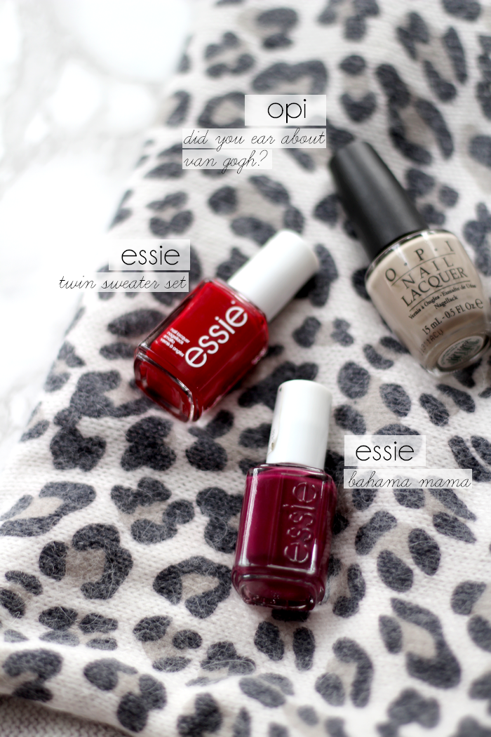 nail fall faves red