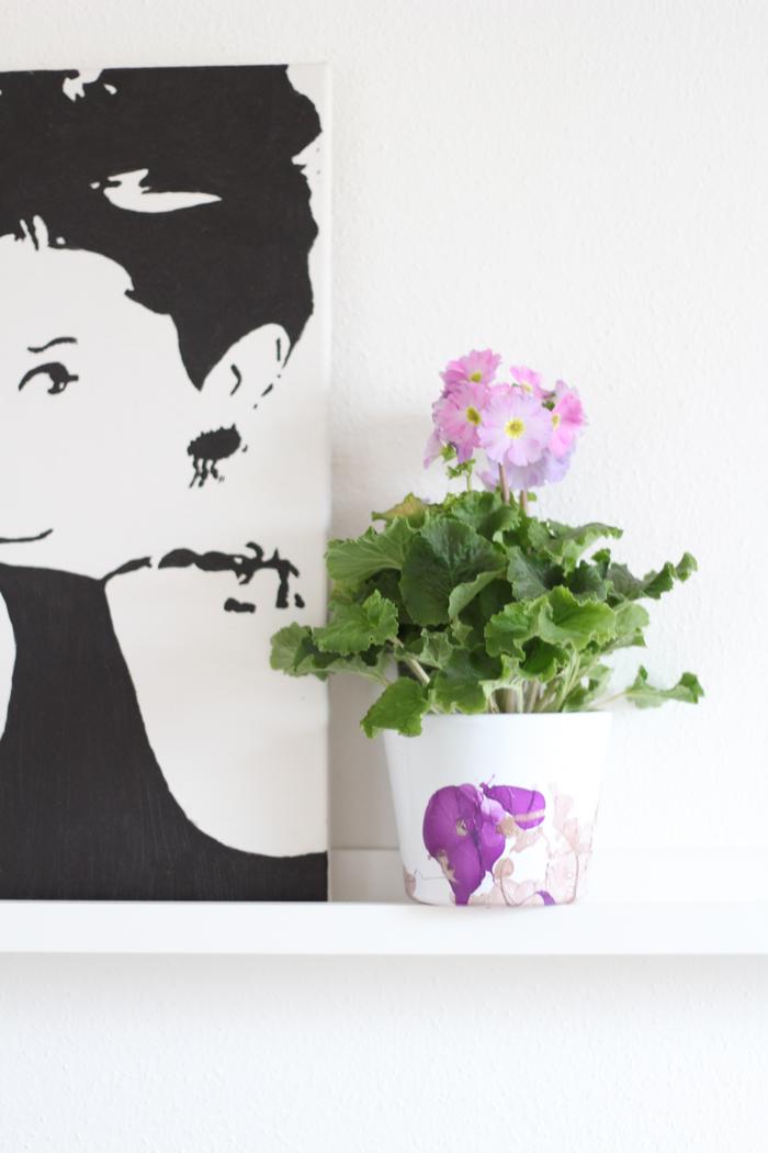 diy marmorierte blument pfe die zimmerpflanze des. Black Bedroom Furniture Sets. Home Design Ideas