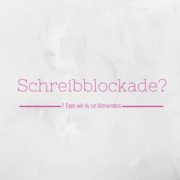 Schreibblockade - was tun?