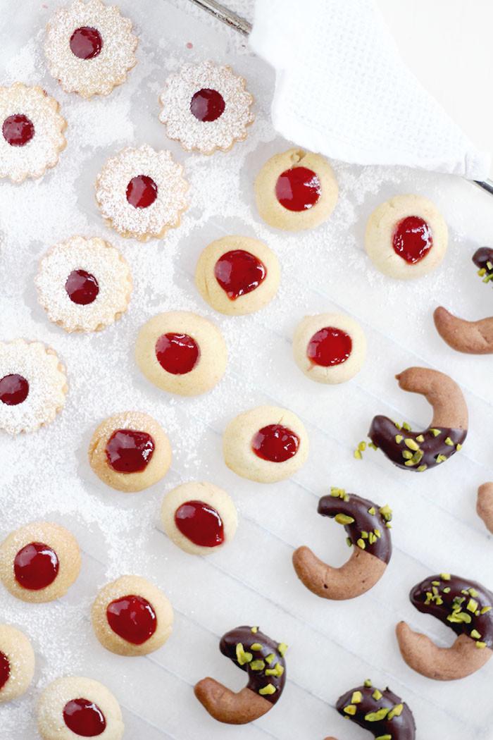 Schnelle Weihnachtsbäckerei: 1 Teig - 3 Sorten Kekse