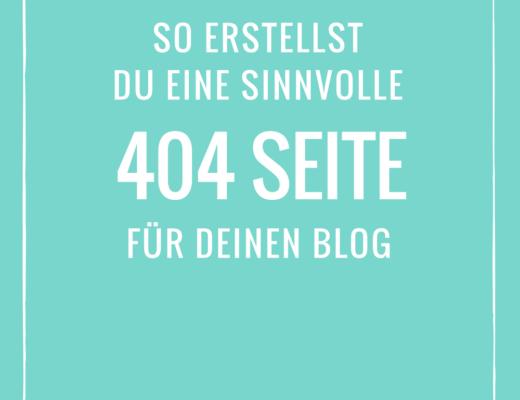 In 3 Schritten zur sinnvollen 404 Page: So erstellst du eine sinnvolle 404 Seite für deinen Blog | provinzkindchen.com