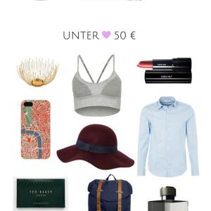 Geschenke unter 25, 50 und 100 €