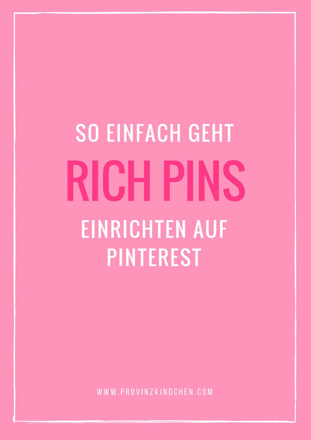Rich Pins einrichten auf Pinterest | provinzkindchen.com