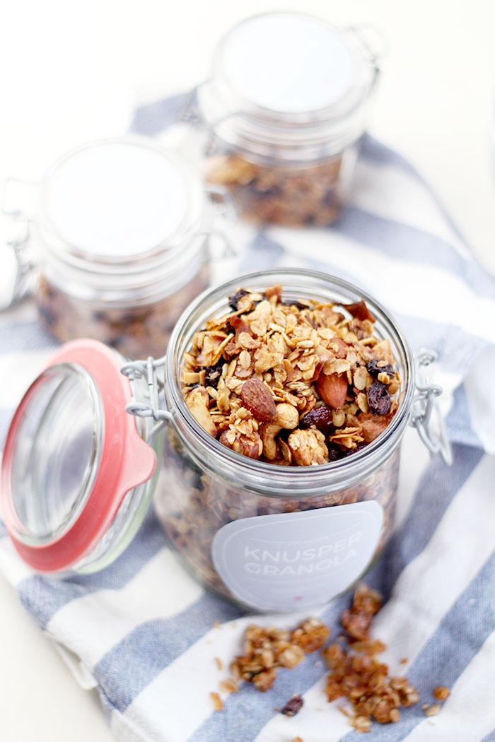 Geschenke aus der Küche - Knuspermüsli mit Kokos und Zimt