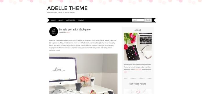 gratis wordpress theme adelle