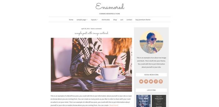 gratis wordpress theme enamored