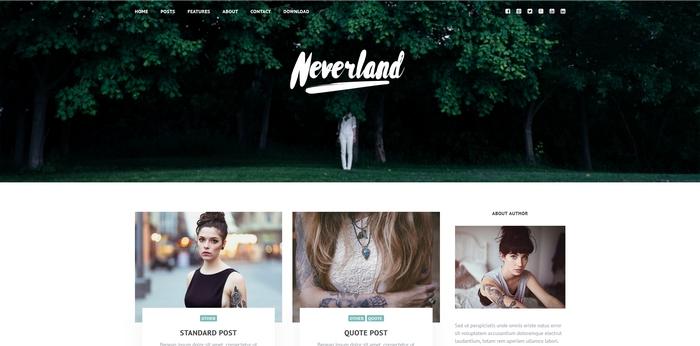 gratis wordpress theme neverland
