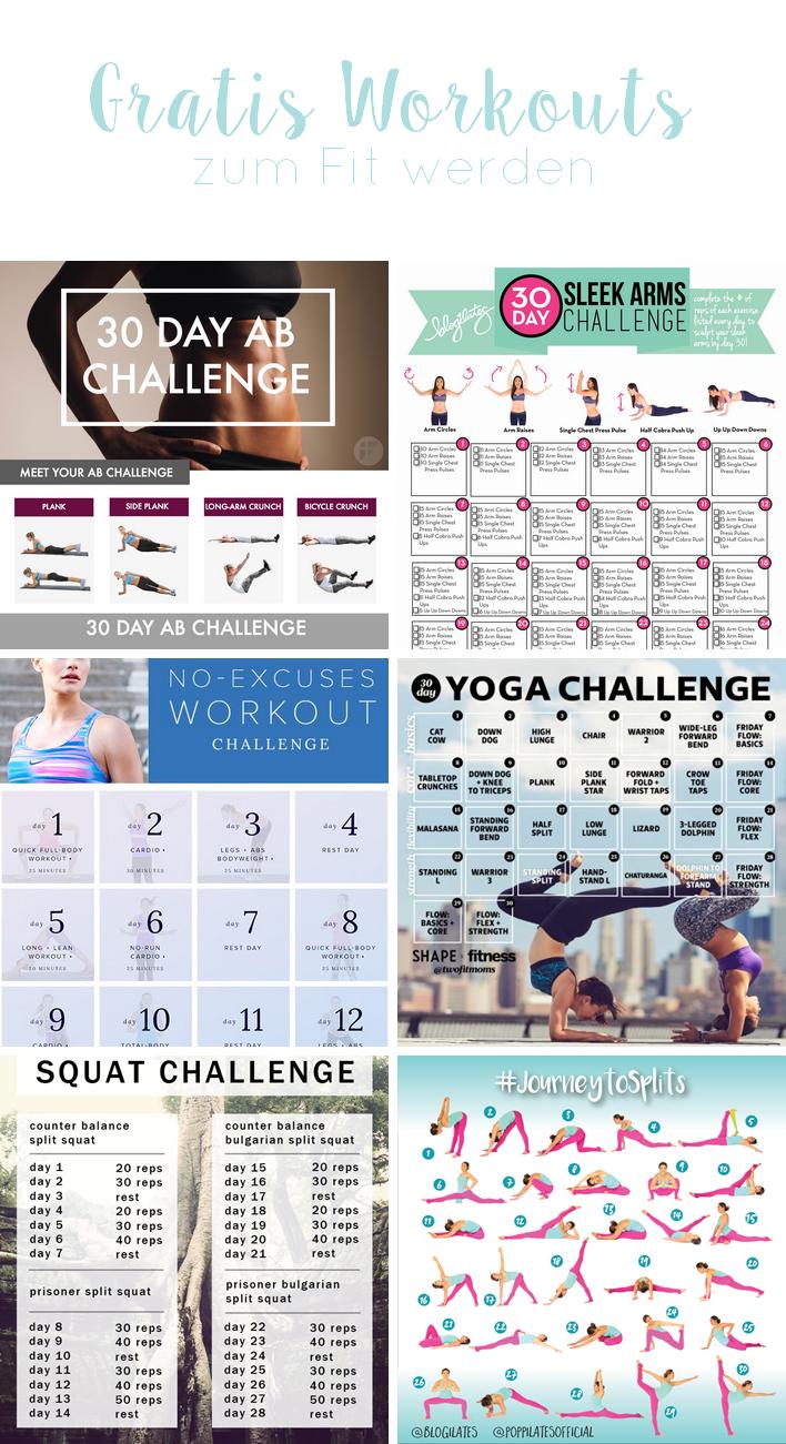 Gratis Workouts zum Fit werden