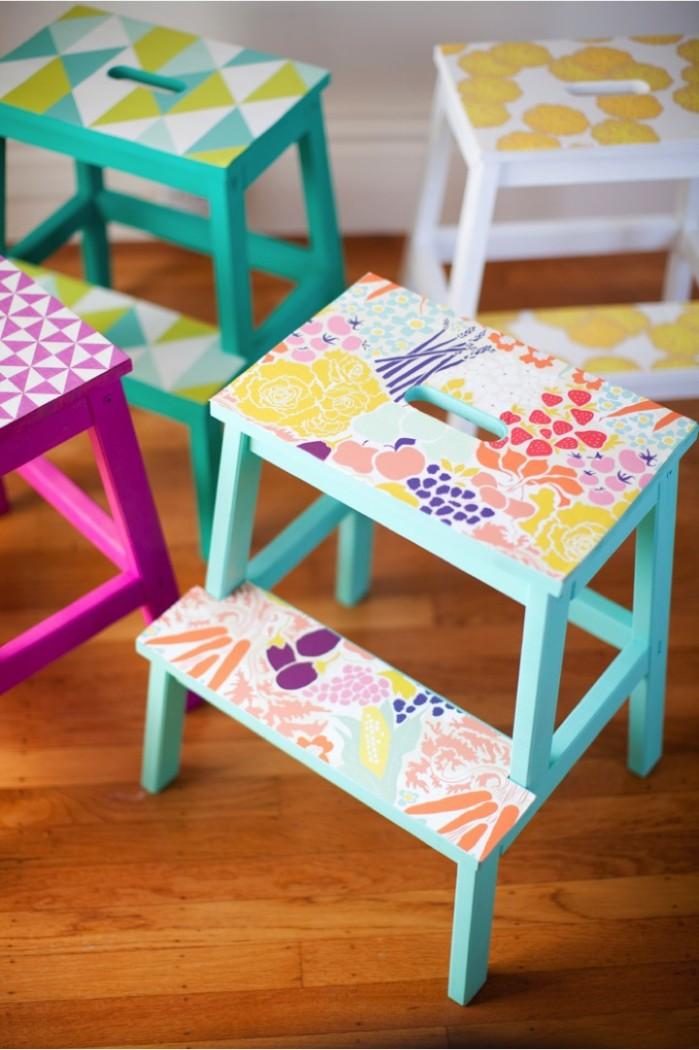 ikeahack6_DIY-wallpaper-stools