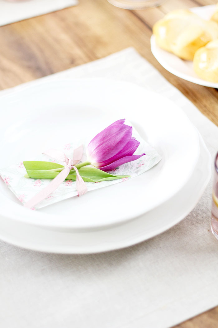 Frühlingshafte Tischdeko