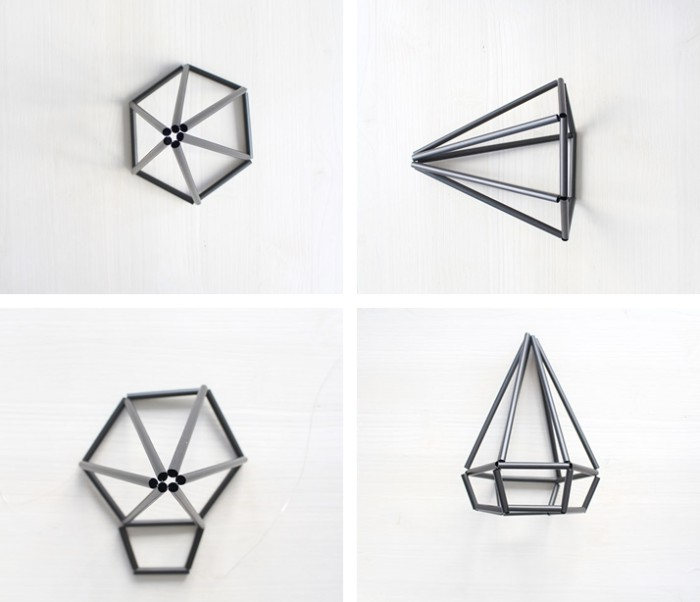 DIY Himmeli Diamant Tutorial Step by Step