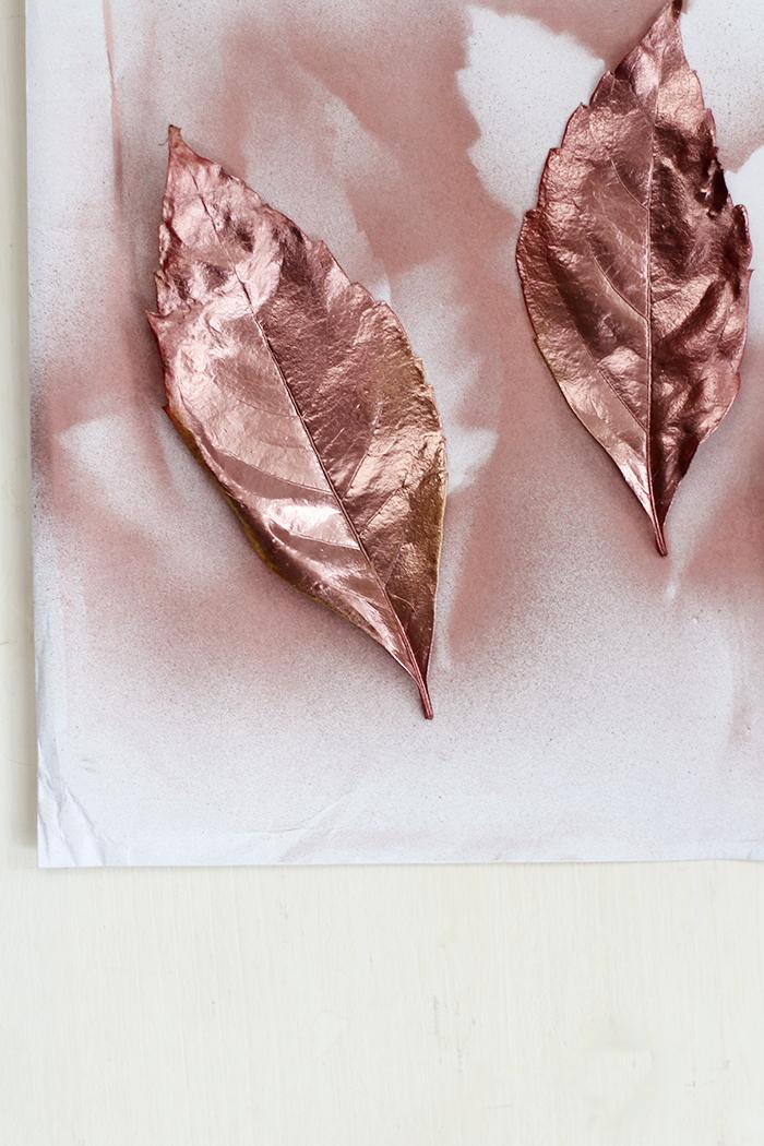 Do It Yourself: Kupfer Herbstblätter im Bilderrahmen