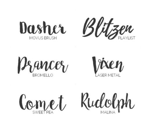 8 kostenlose Schriftarten - Brush & Script
