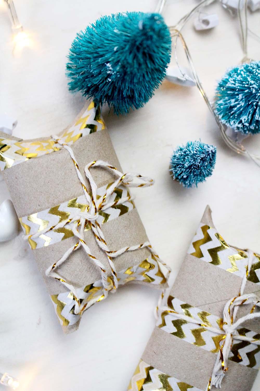 Do It Yourself: Schnelle Geschenkverpackung aus Klopapierrollen