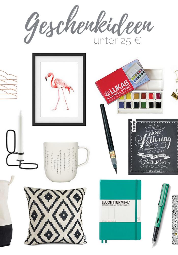 Geschenkideen unter 25 Euro - Geschenke für Kreative und das Zuhause