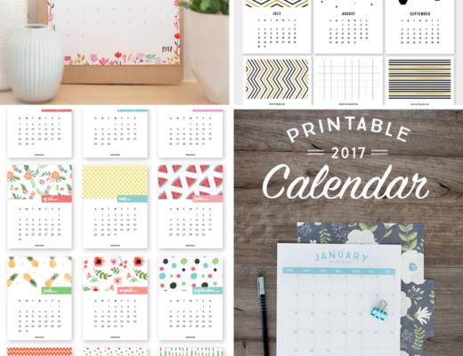Die schönsten Kalender für 2017 zum Ausdrucken