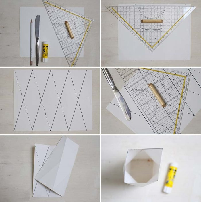 DIY: Origami Vase aus Papier selber machen
