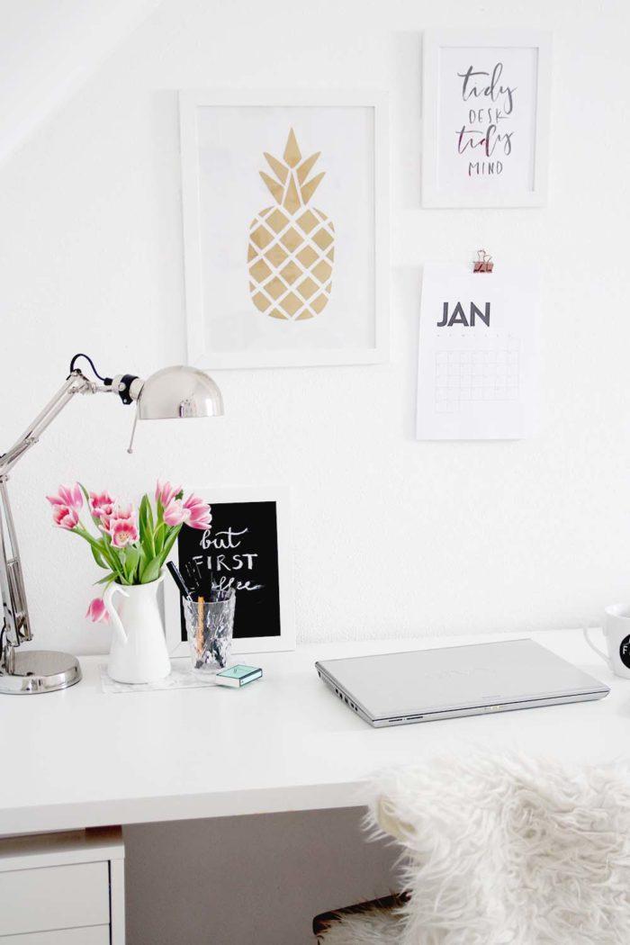 3 schnelle diy ideen f r den schreibtisch provinzkindchen. Black Bedroom Furniture Sets. Home Design Ideas