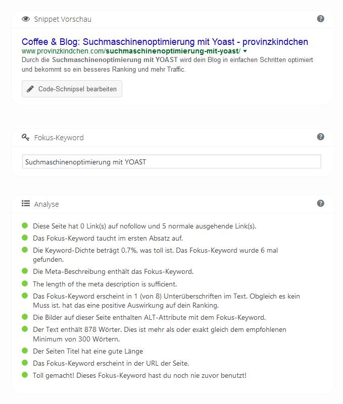 Suchmaschinenoptimierung mit Yoast