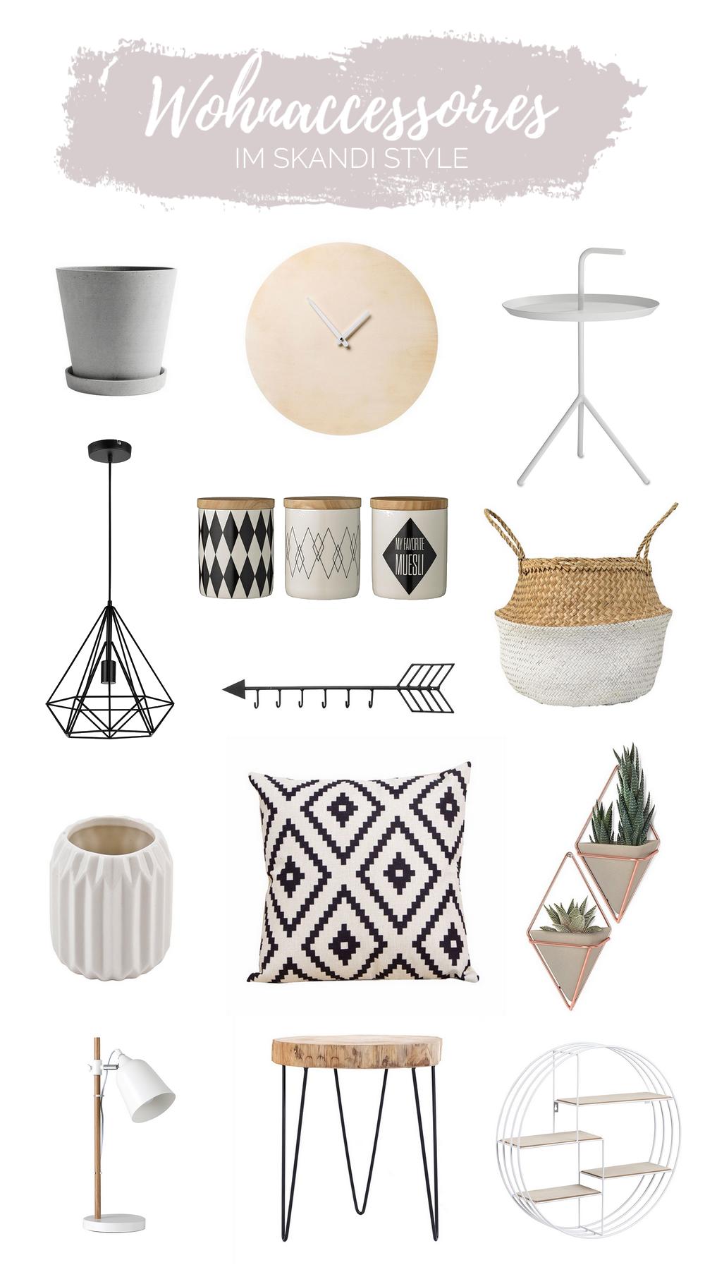 Wohnaccessoires im Skandi Style. Mit diesen 6 Tipps kannst du dein Zuhause inspiriert vom Skandi Style einrichten. Tipps zum Wohnen im skandinavischern Wohnstil.
