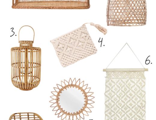 Rattan, Bambus & Makramee - Naturmaterialien für Zuhause