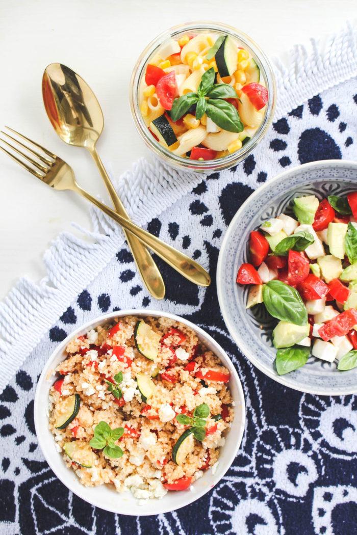Schnell gemacht: 3 einfache Salate für den Sommer