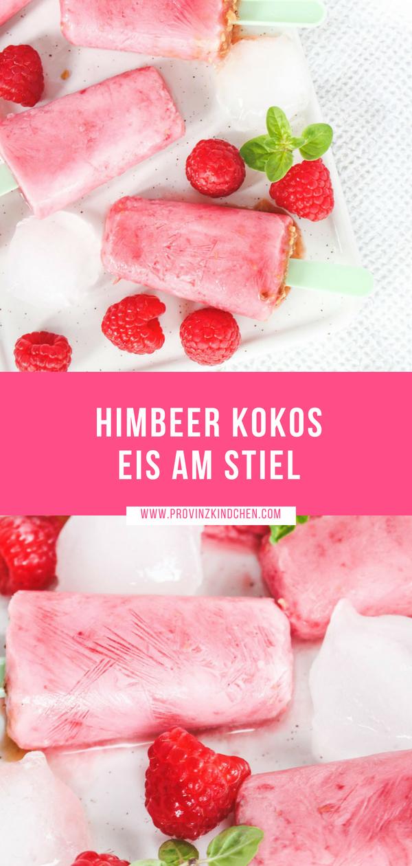 Himbeer-Kokos-Eis am Stiel selber machen