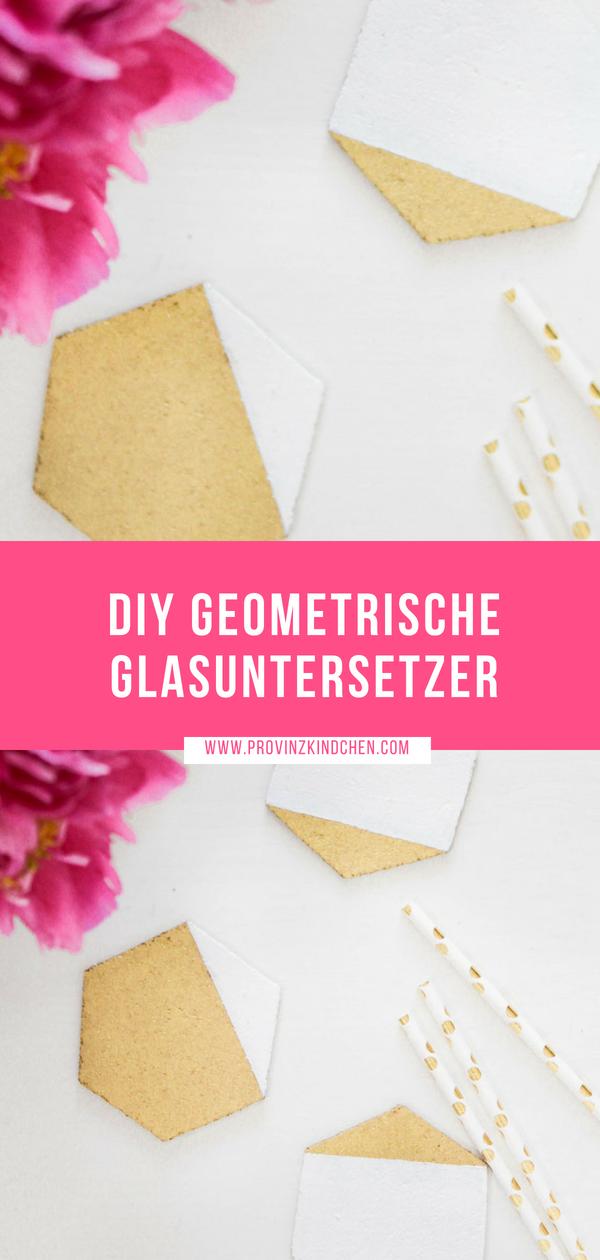 Geometrische Glasuntersetzer selber machen
