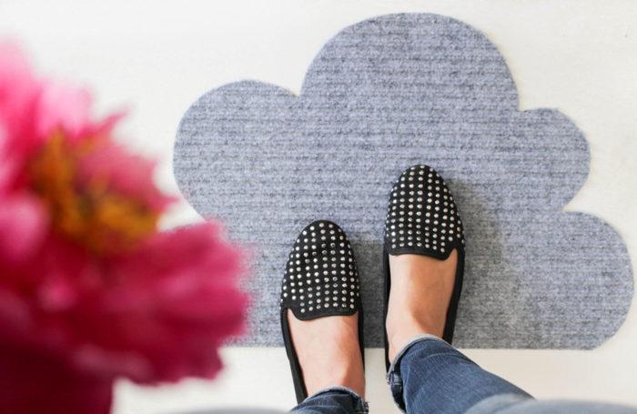 DIY: Wolken Fußmatte selber machen