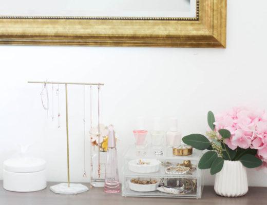 Gold und Marmor Schmuckständer selber machen
