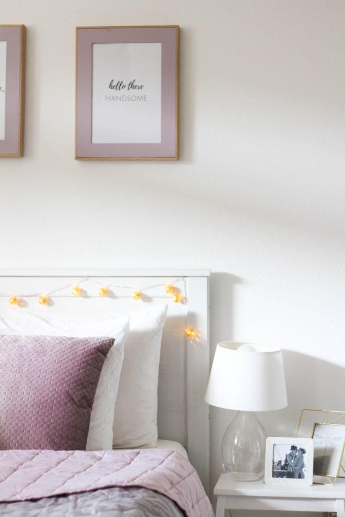 Schlafzimmer im Herbst