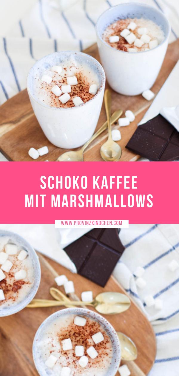 Schoko Kaffee mit Mini Marshmallows