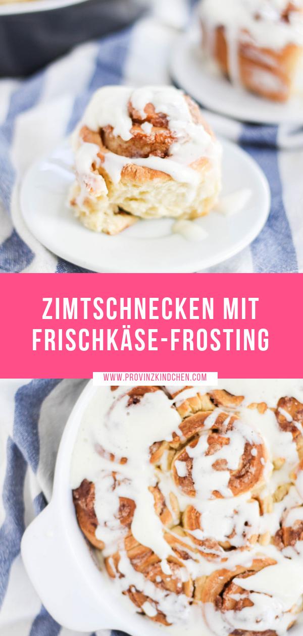 Zimtschnecken mit Frischkäse-Frosting