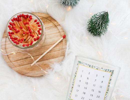 Last Minute Adventkalenderkerze selber machen + Free Printable