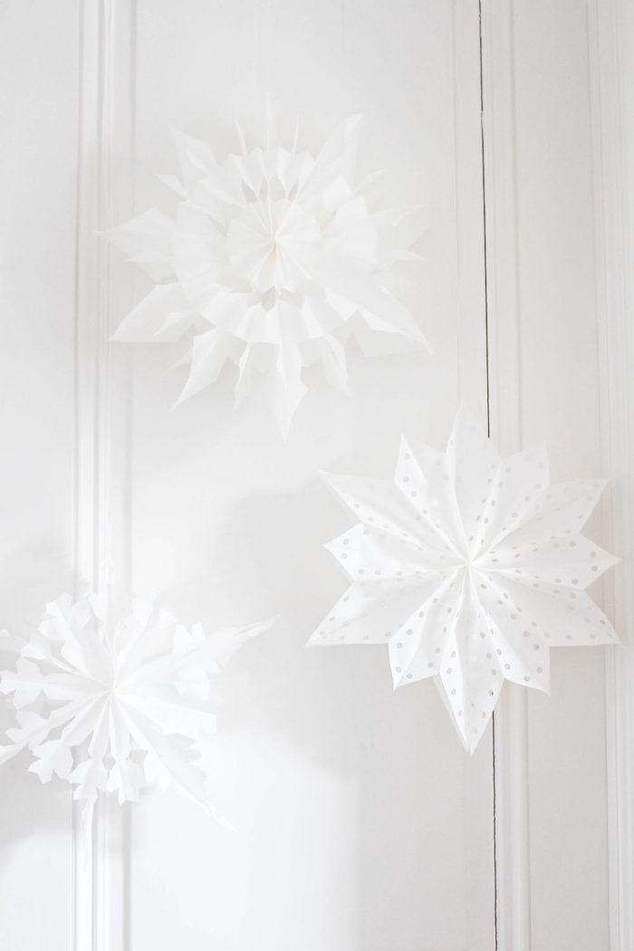 Sterne aus Butterbrottüten