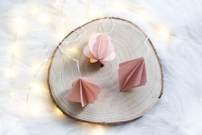 DIY Anleitung für Ornamente aus Papier