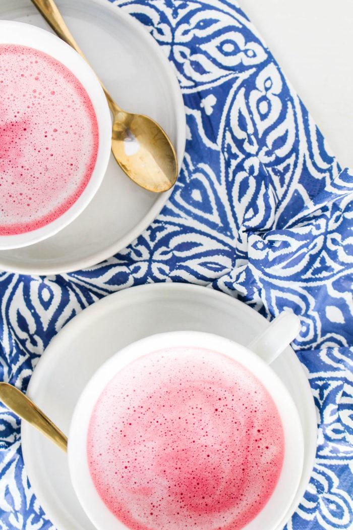 Pink Latte mit Roten Rüben
