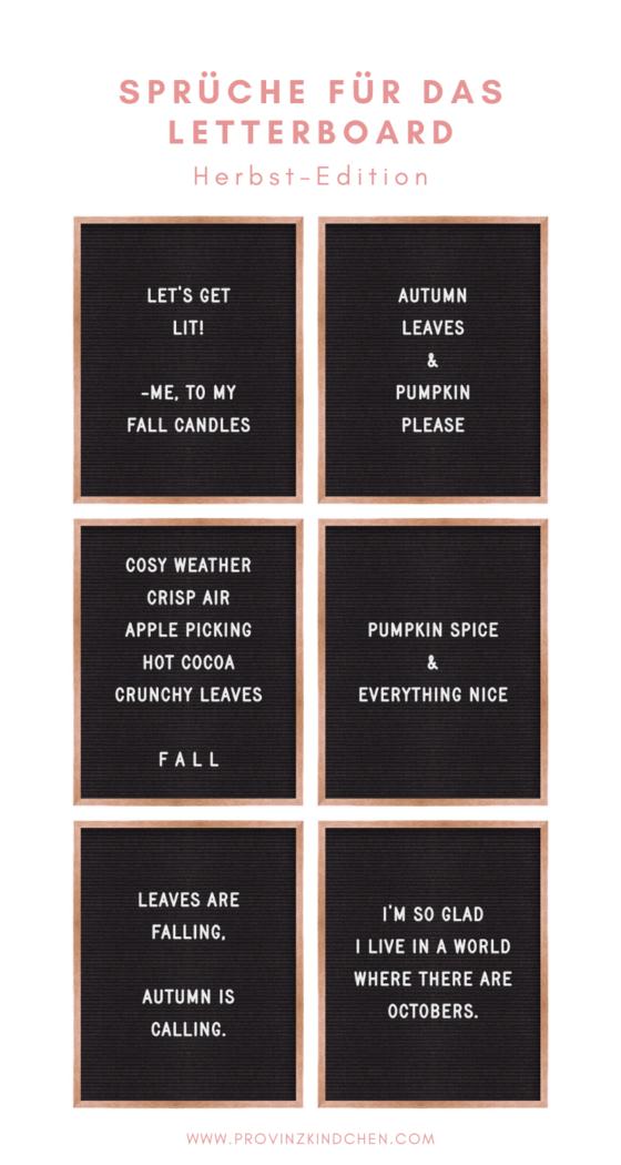 Letterboard Sprüche für den Herbst