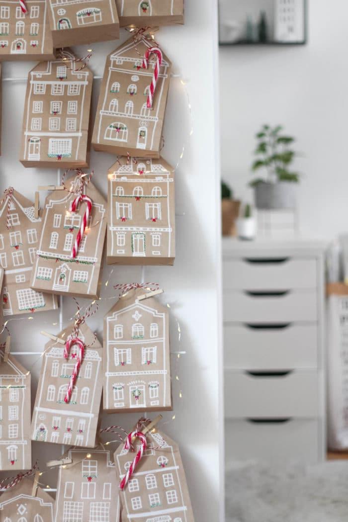 DIY Adventskalender Häuschen
